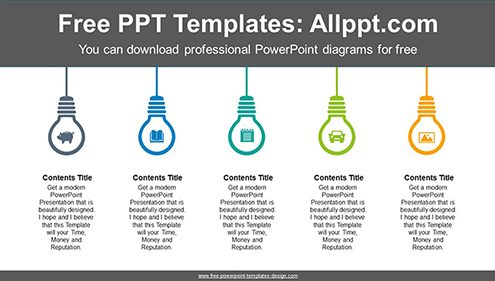 Icon built-in light bulb PowerPoint Diagram Template-list image