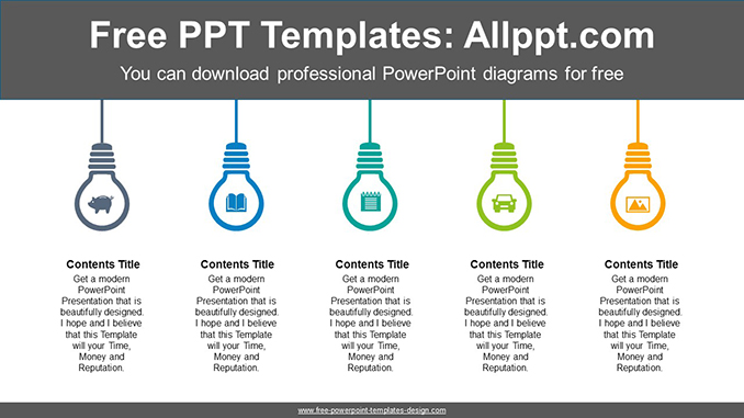 Icon built-in light bulb PowerPoint Diagram Template-post image