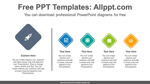 List diamonds PowerPoint Diagram Template-list image