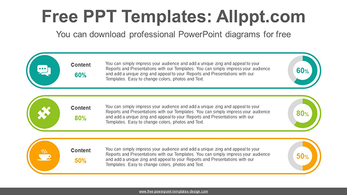 List-form doughnut charts PowerPoint Diagram Template-post image