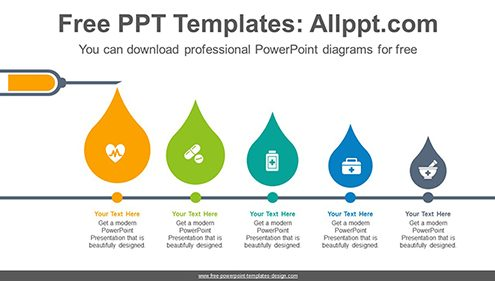 Medical syringe PowerPoint Diagram Template-list image