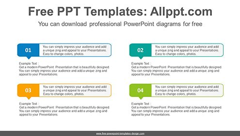 Numbered text box PowerPoint Diagram Template-list image