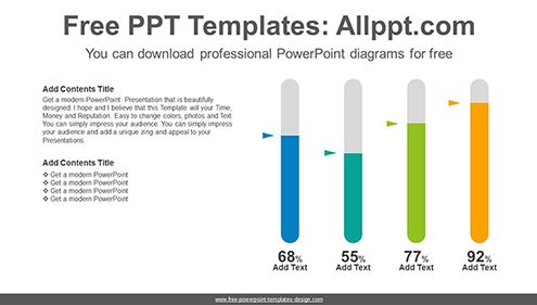 Oval bar chart PowerPoint Diagram Template-list image