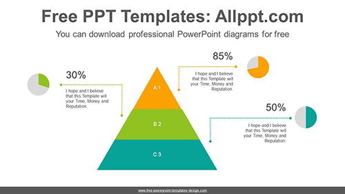 Pyramid pie chart PowerPoint Diagram Template-list image
