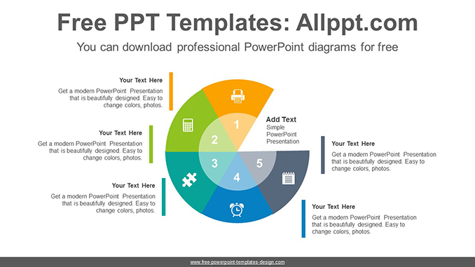Radial doughnuts PowerPoint Diagram Template-post image