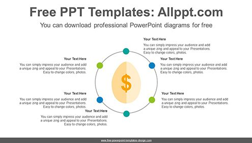 Radial gold egg PowerPoint Diagram Template-list image