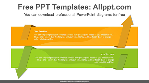 Reverse-facing arrow banner PowerPoint Diagram Template-list image