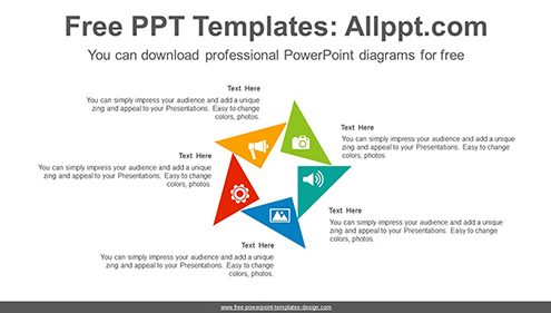 Rotation triangle PowerPoint Diagram Template-list image