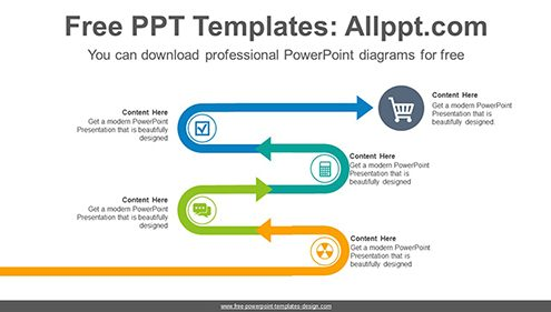 Snake shape rising curve PowerPoint Diagram Template-list image