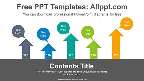 Stacked vertical arrows PowerPoint Diagram Template-list image