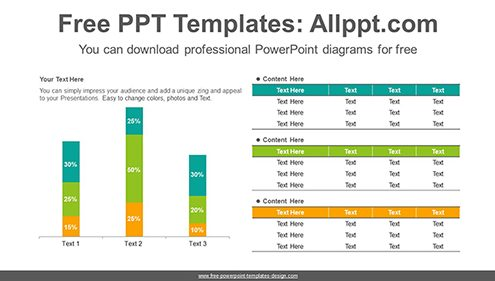 Stacked vertical bar chart PowerPoint Diagram Template-list image