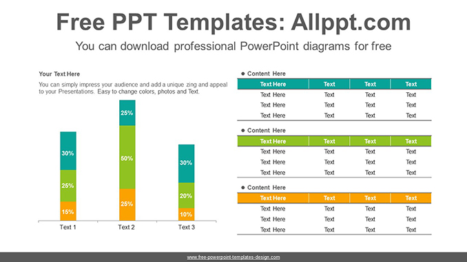 Stacked vertical bar chart PowerPoint Diagram Template-post image