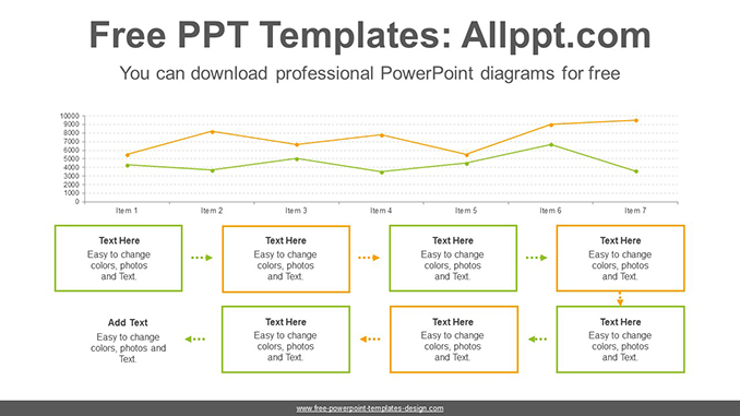 Text box line chart PowerPoint Diagram Template-post image
