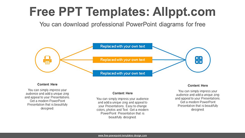 Two circle PowerPoint Diagram Template-list image