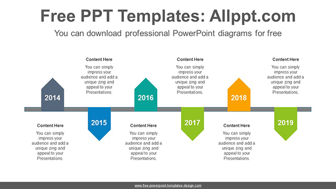 Zigzagged pentagon PowerPoint Diagram Template-post image